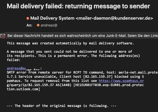 A message that you sent has not yet been delivered to one or more of its recipients after 25. Wenn Eine E Mail Nicht Zugestellt Werden Kann Schieb De