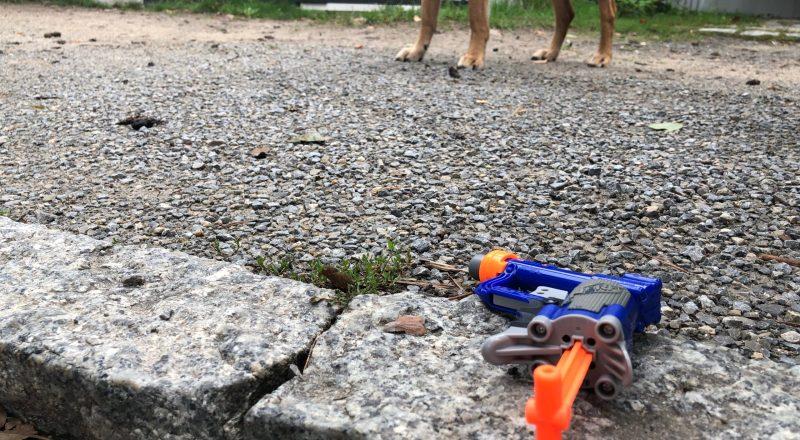 Pistole aufm Brahmsweg. Foto: Hufner