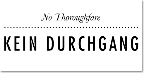 Letter Kein Durchgang