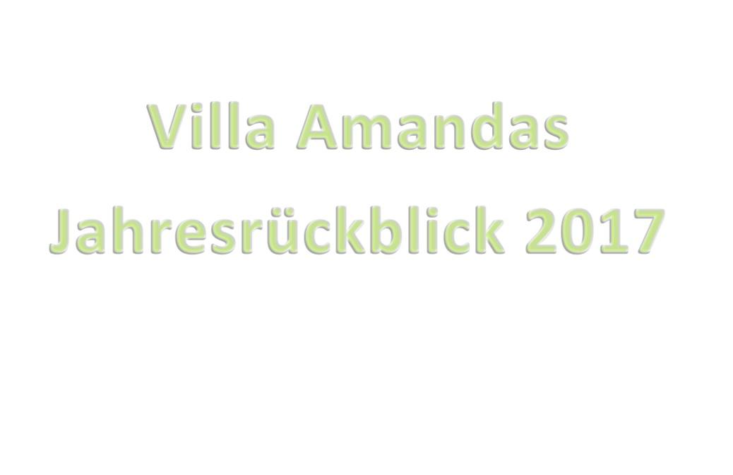 Villa Amandas Jahresrückblick 2017