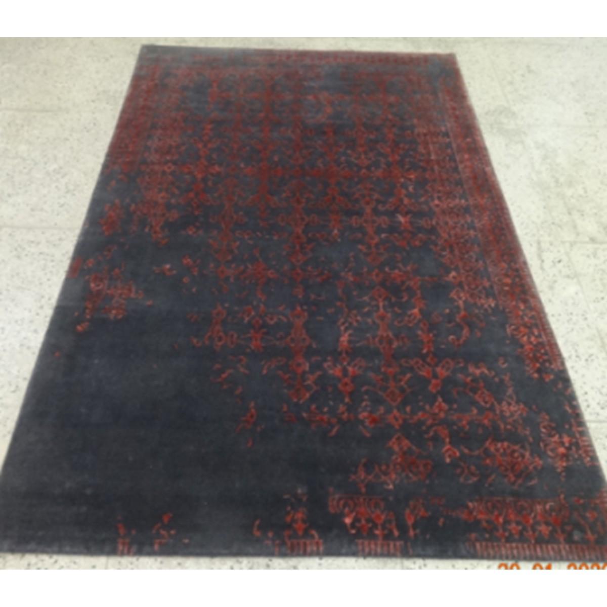 tapis bengale noir rouge