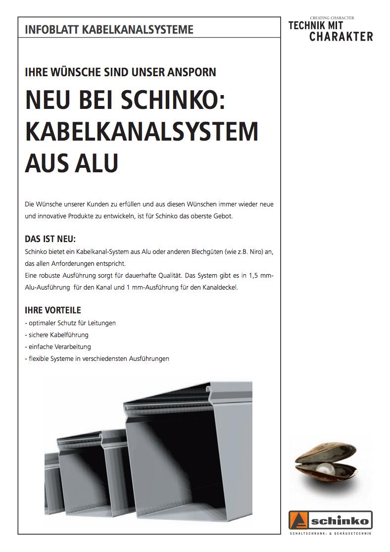Titel Schinko Folder Kabelkanal - Titelseite von Schinko Folders für Kabelkanalsysteme.