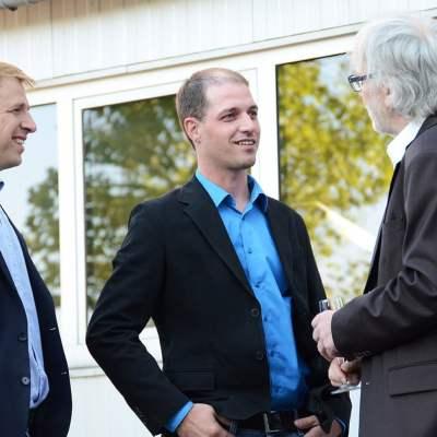 Schinko 25 Jahr Feier - Geschäftsführer Michael Schinko und Hr.DI David Saitner bei der 25 Jahr Feier der Firma Schinko.