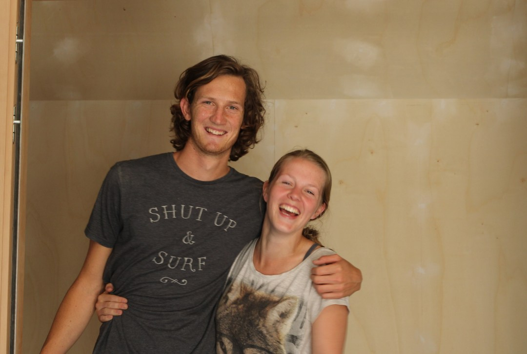 Shirly en Roy bouwen een Tiny House