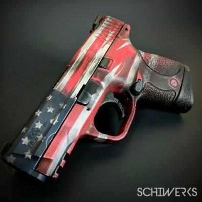 Battleworn american flag cerakote