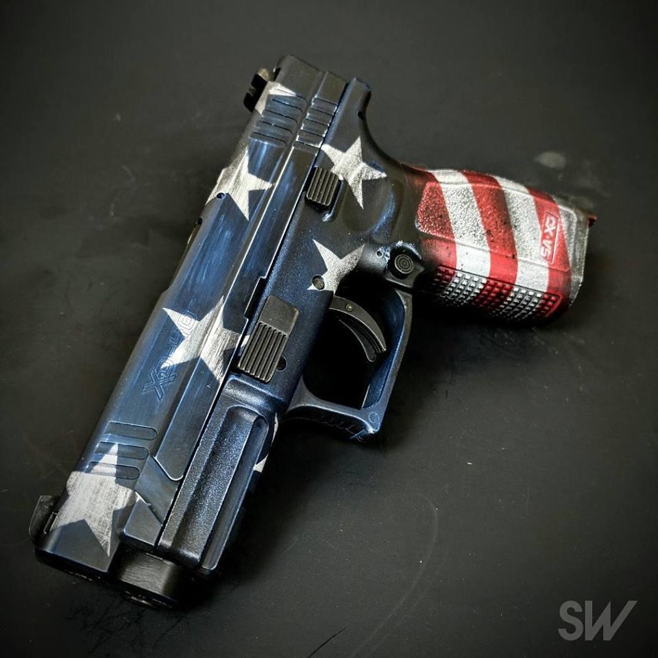 XD american flag battleworn cerakote
