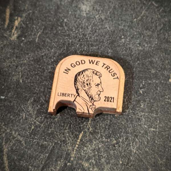 Penny Abe lincoln Copper backplate
