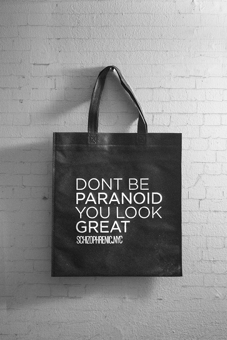 Dont be paranoid, you look great tote bag!
