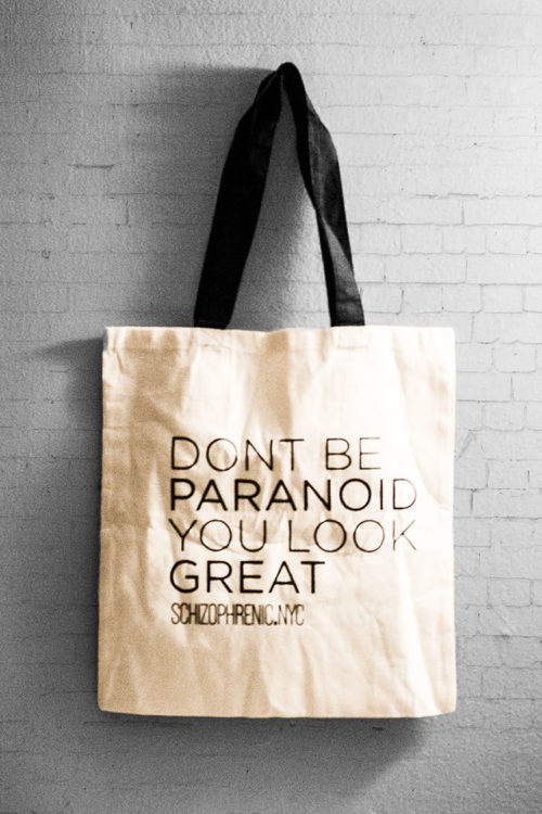 Dont be paranoid - canvas tote bag 4