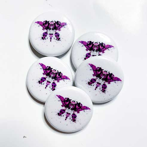 Purple rorschach test - button