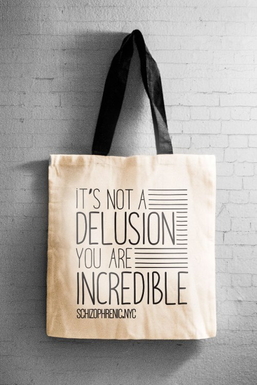 It's not a delusion - canvas tote bag 16