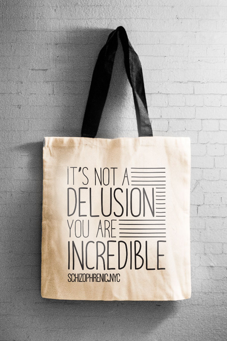 It's not a delusion - canvas tote bag