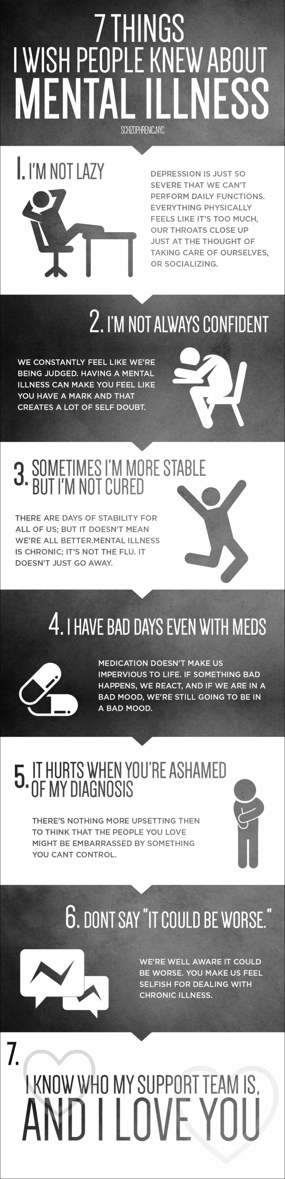 7 things i wish people knew about mental illness infographic 1