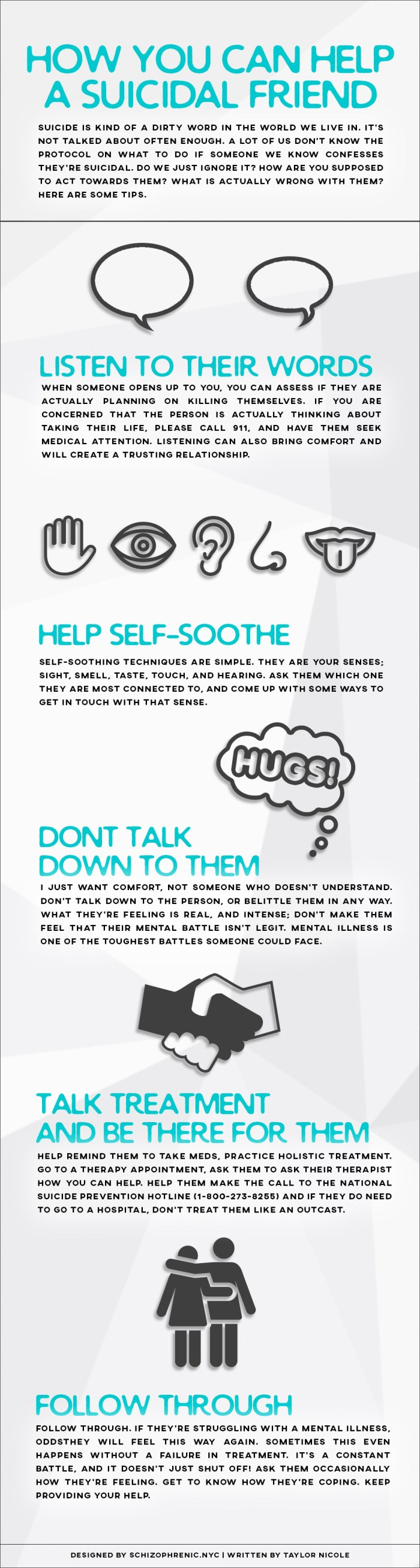 How you can help a suicidal friend infographic 1