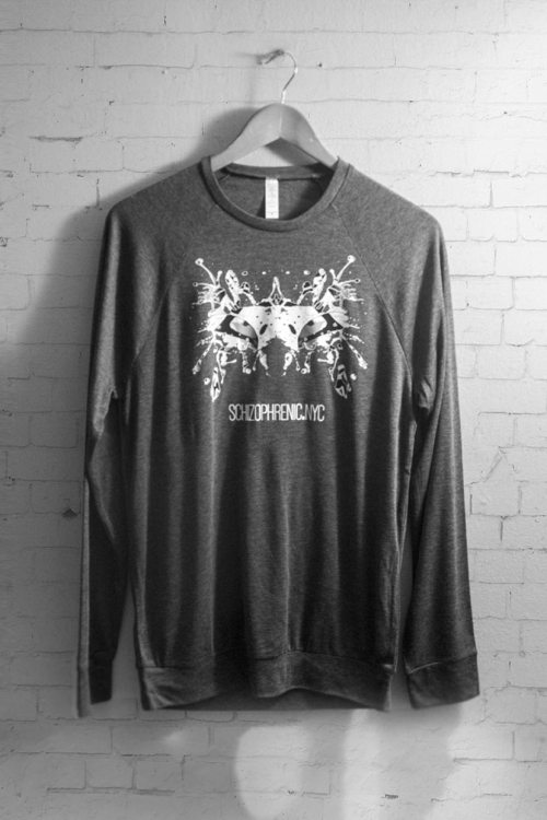 Black & white rorschach test relaxed sweater 9