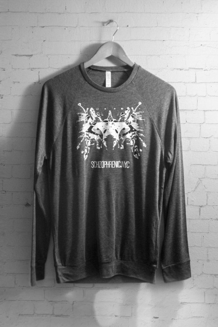 Black & White Rorschach Test Relaxed Sweater 1