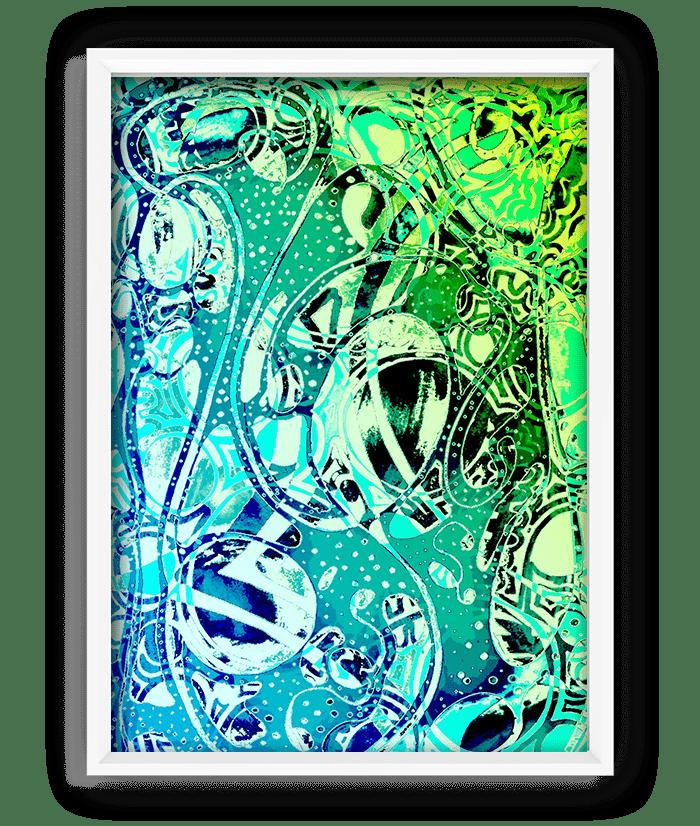 """Snow Print - 18""""x24"""" 9"""