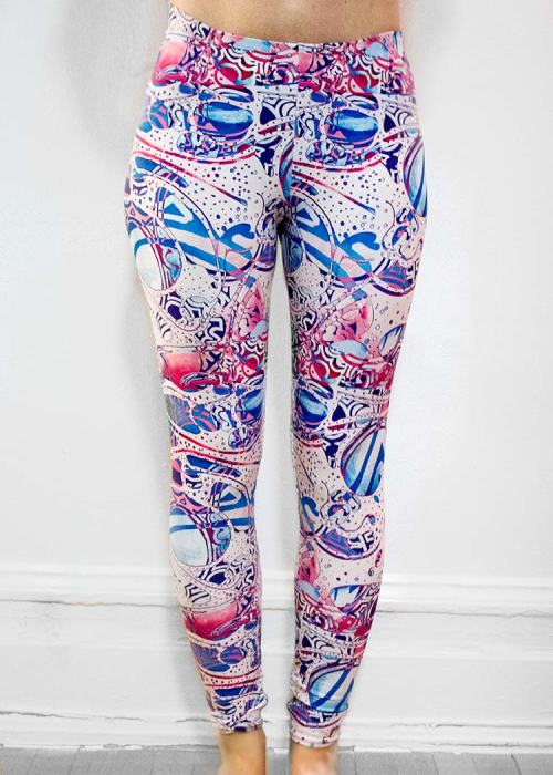 "Michelle's ""Bleach"" Print Leggings 12"