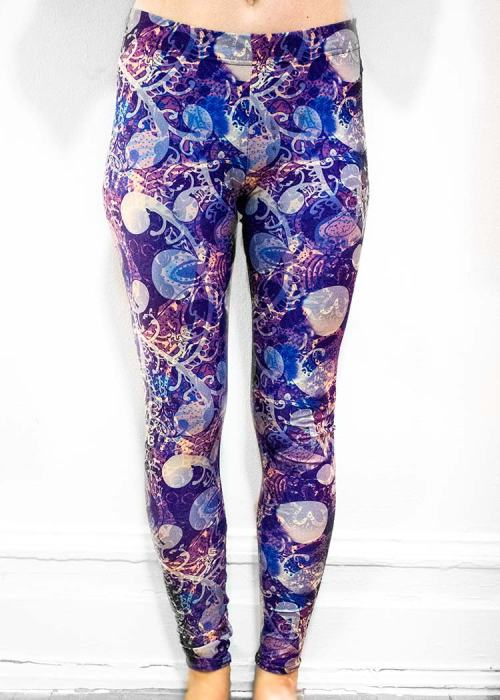 "Michelle's ""night"" print leggings 2"