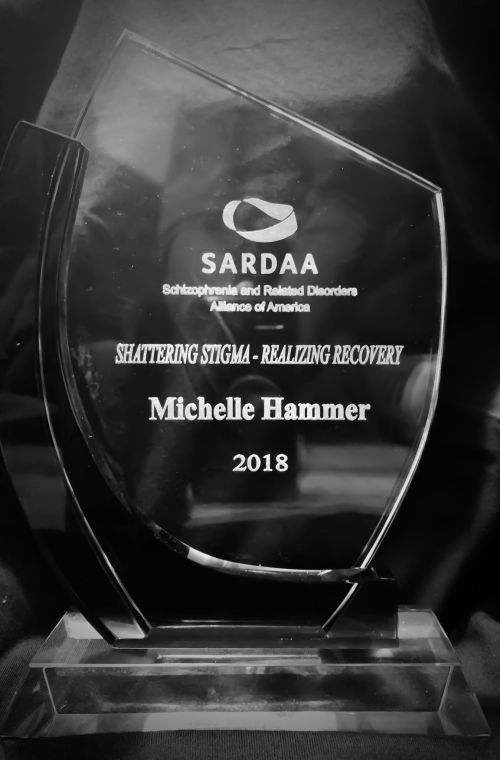 Michelle earned the Shattering Stigma Award from SARDAA 3