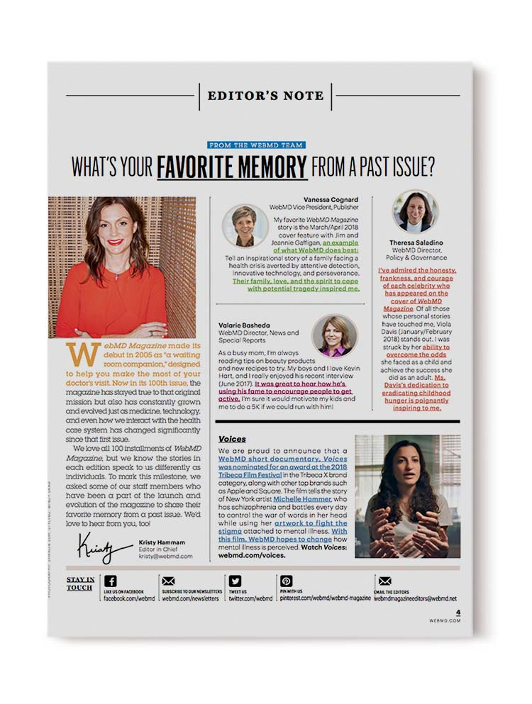 Michelle in WebMD Magazine! 2