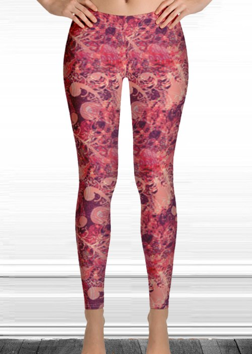 "Michelle's ""wake up"" print leggings 31"