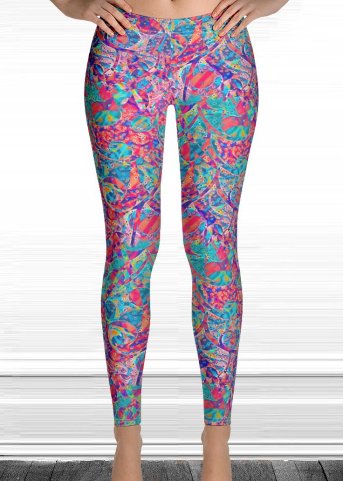 Drip print leggings by schizophrenic. Nyc