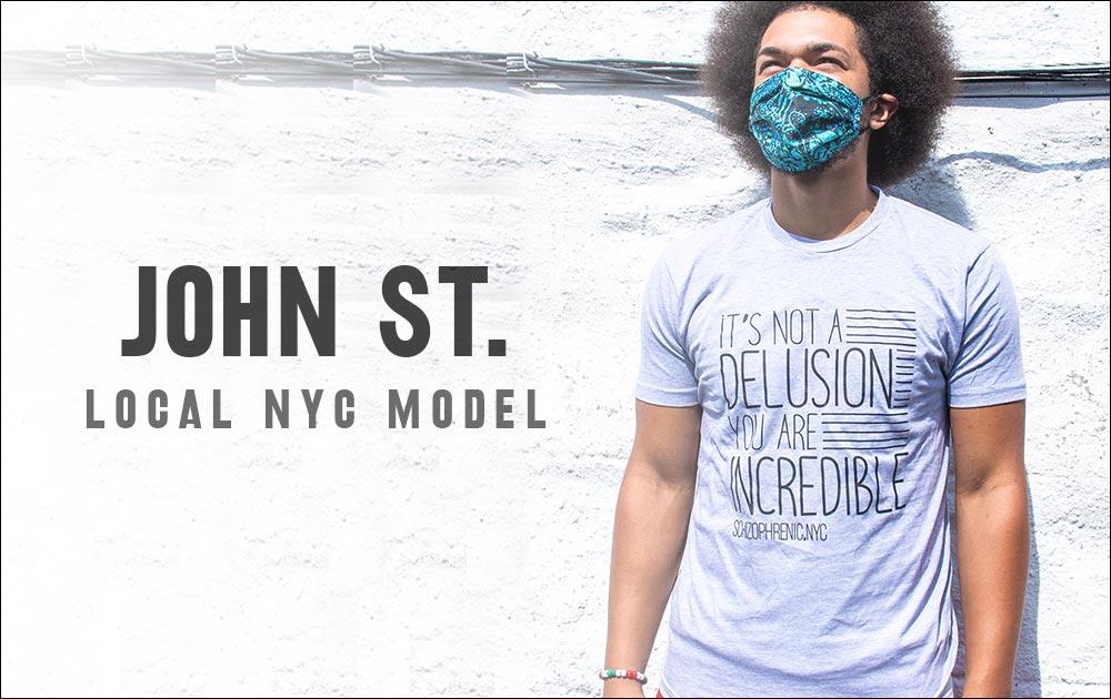 John st. Model for schizophrenic. Nyc