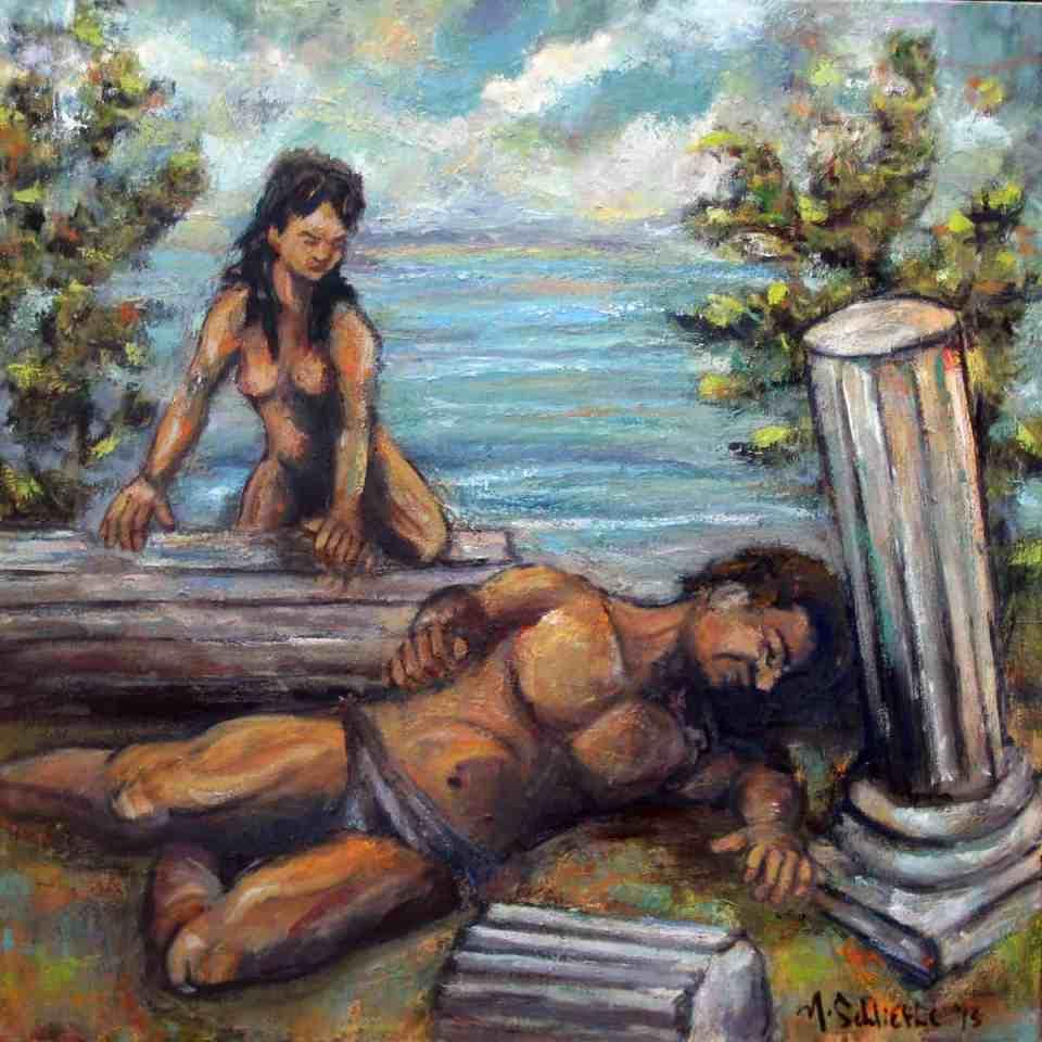 The Siren's Song - oil on canvas - Michael Schliefke