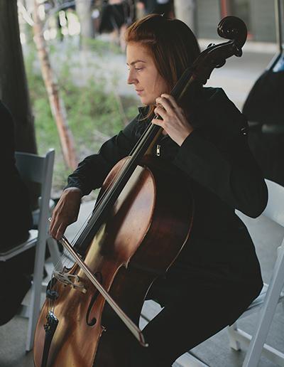 Spring Wedding Schlitz Audubon Cello