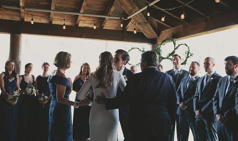 Spring Wedding Schlitz Audubon Altar