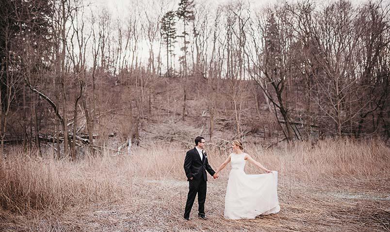 Winter Wedding Schlitz Audubon Prairie