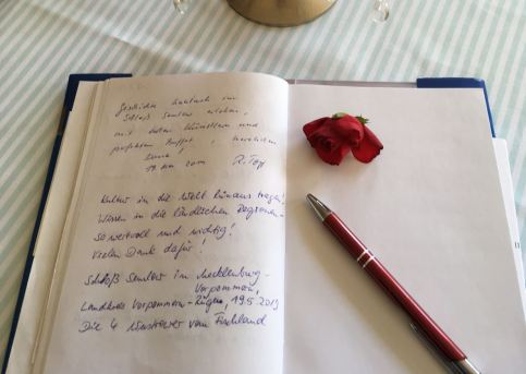 Auszug Gästebuch