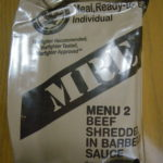 2019年検品:MRE メニューNO2  BEEF SHREDDED IN BARBECUE SAUCE