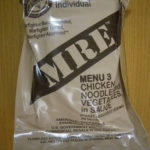 2019年検品:MRE メニューNO3  CHICKEN NOODLES AND VEGETABLES INSAUCE