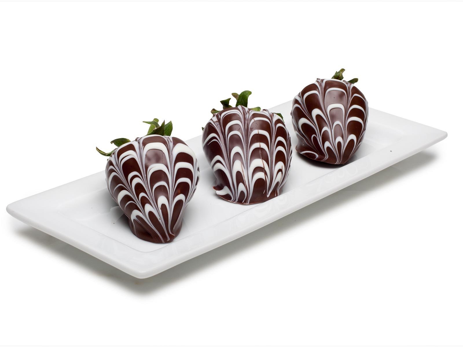 Chocolate Strawberries, Marbled Dark and White