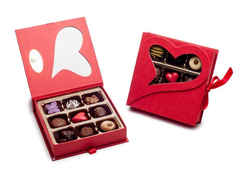 heart chocolate jewelry box