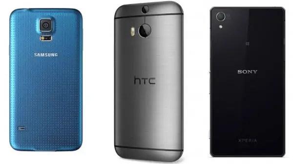 HTC, HTC One (M8), Samsung, Samsung Galaxy S5, Galaxy S5, Samsung S5, Sony, Sony Xperia Z2, Xperia Z2