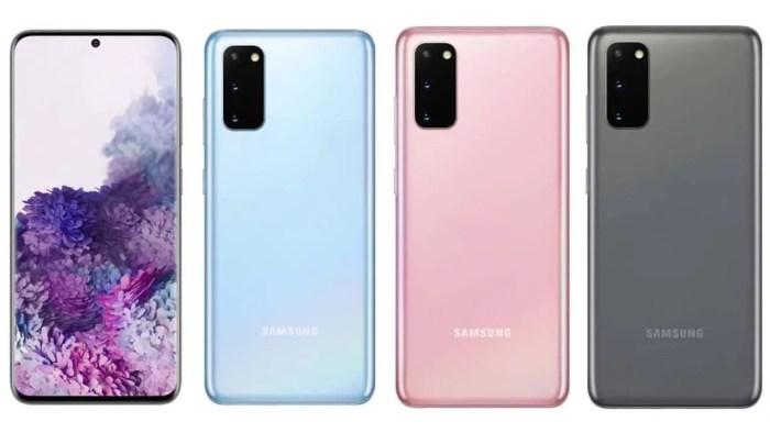 Samsung Galaxy S20 Pressebild