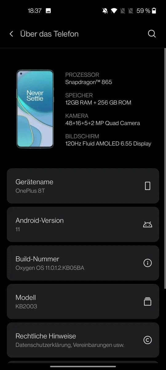OxygenOS 11 Screenshot