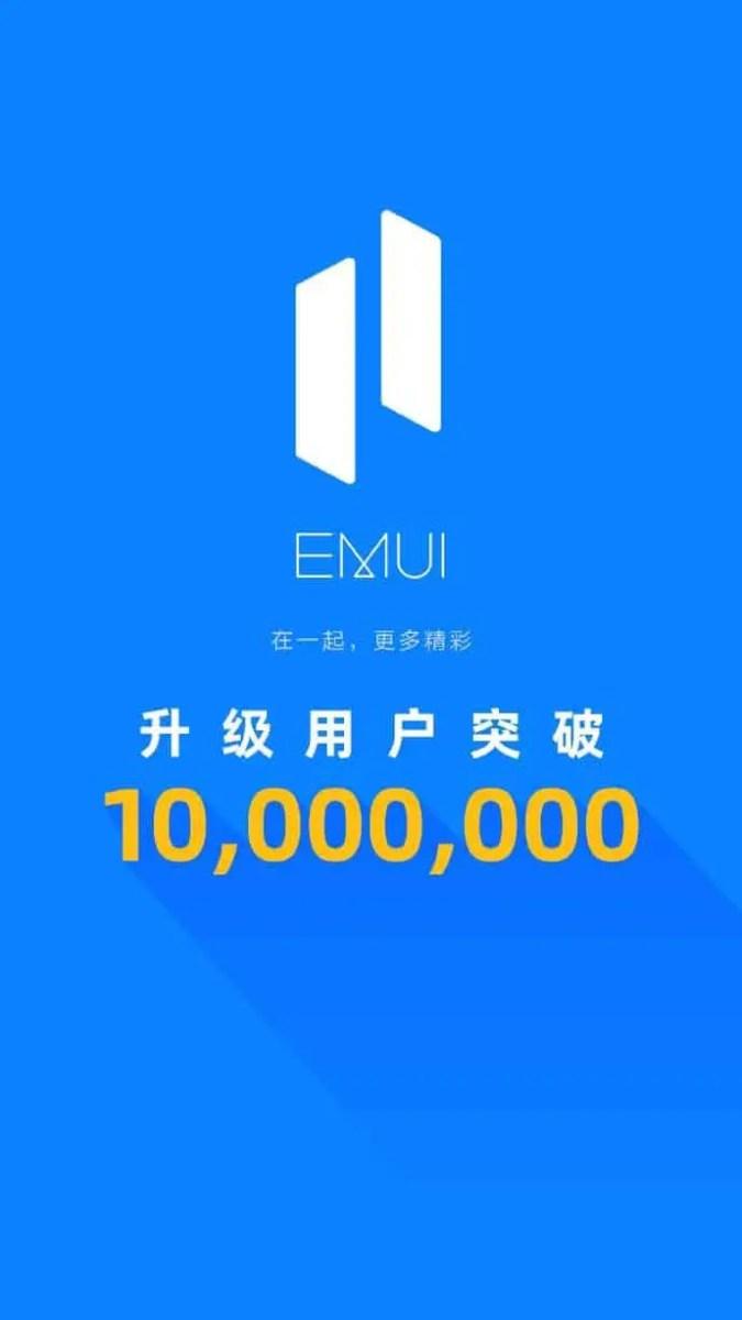 EMUI 11 10 Millionen User