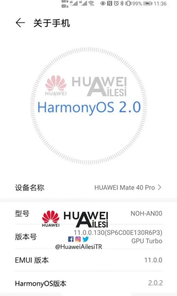 Huawei Mate 40 Pro HarmonyOS 2.0.2