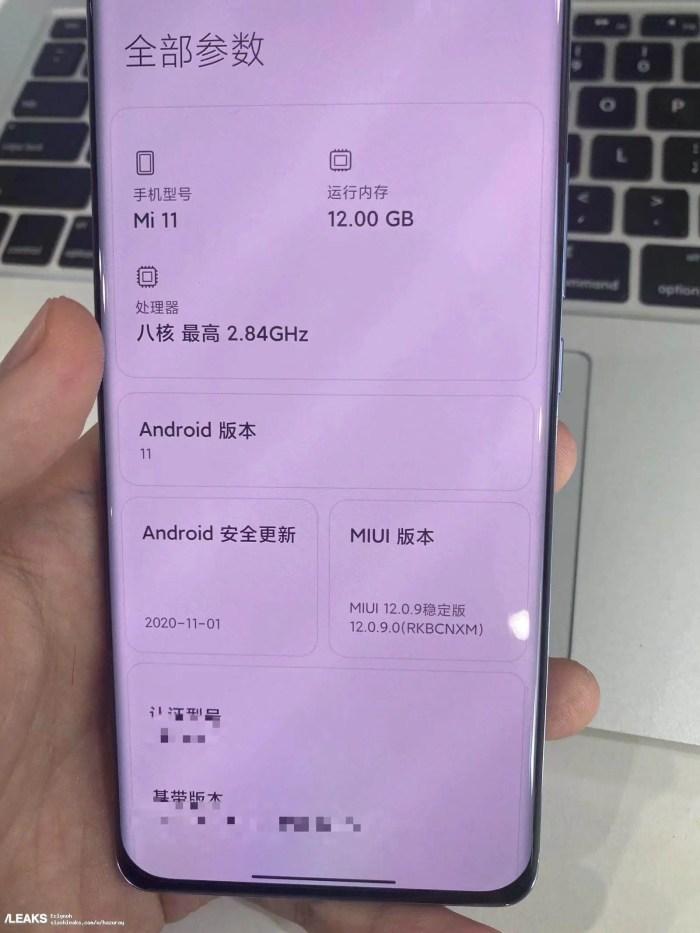 Xiaomi Mi 11 Vorderseite
