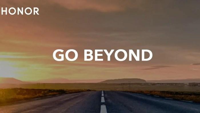 HONOR Slogan Go Beyond