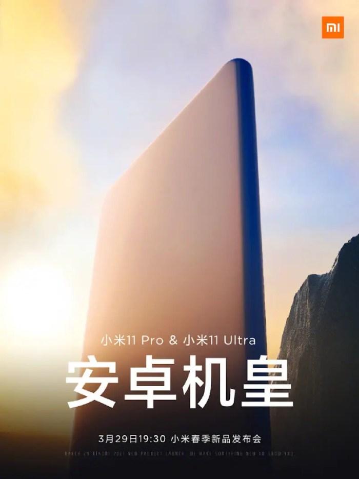Xiaomi Mi 11 Pro und Mi 11 Ultra Teaser