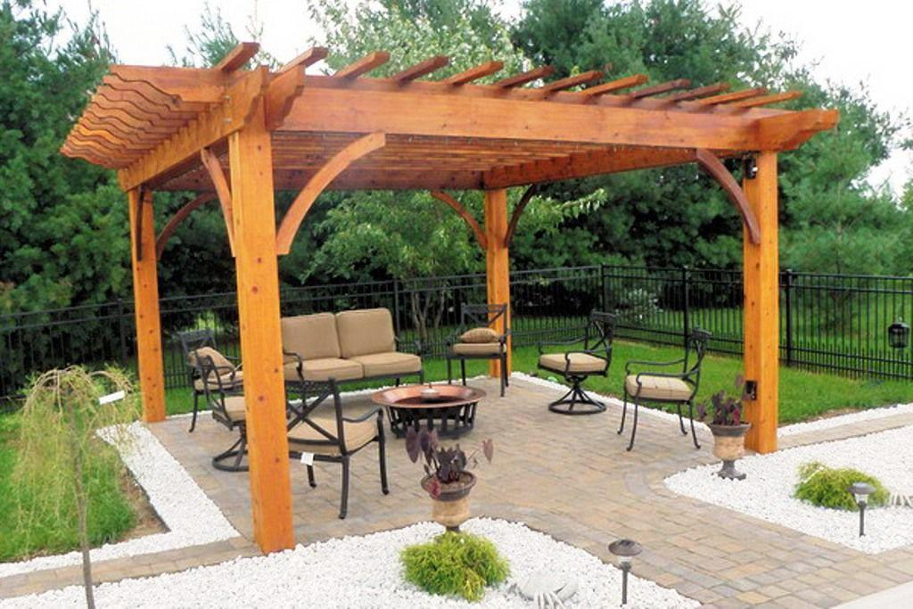 how to build a patio cover not attached