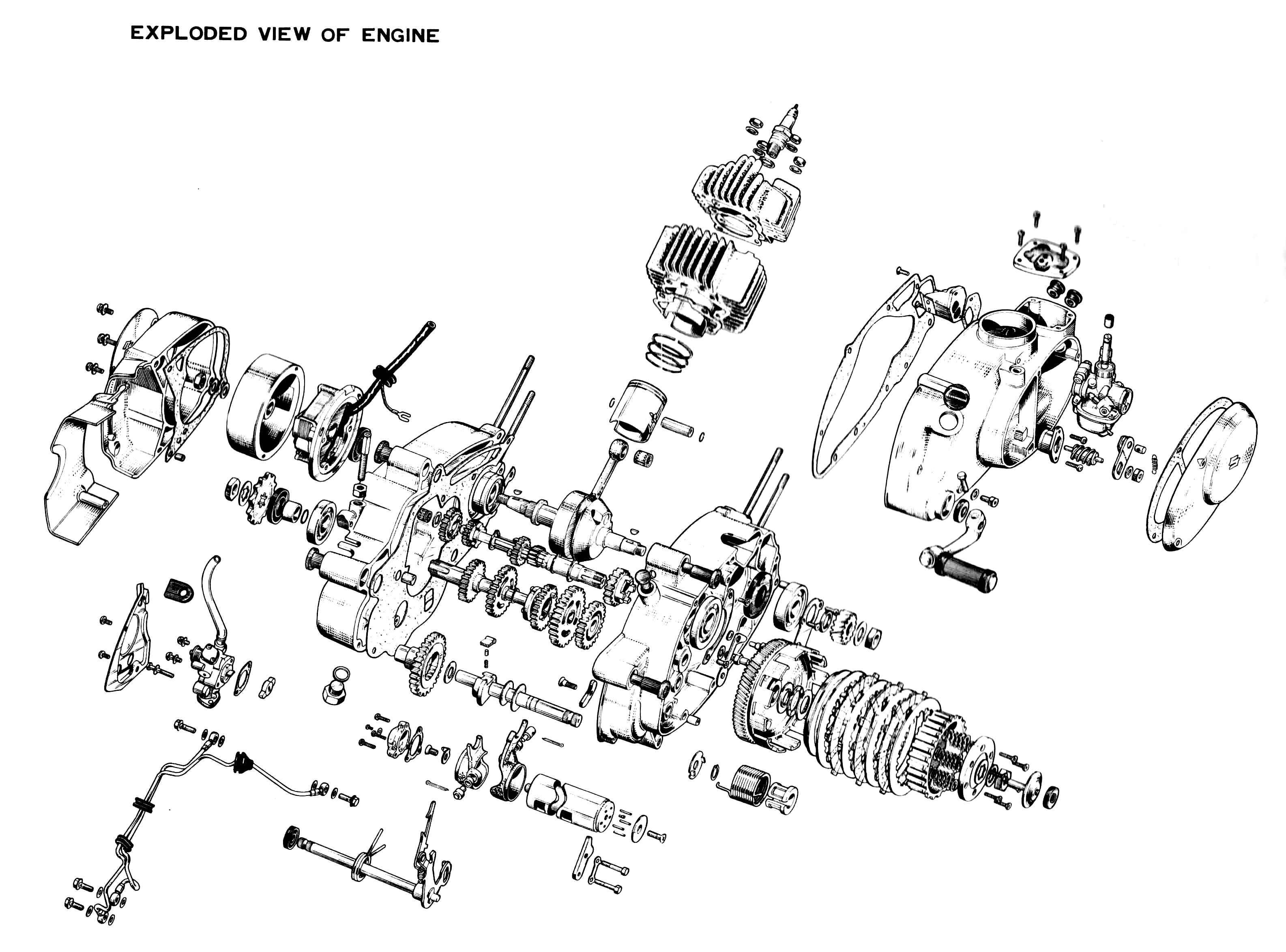 Explosionszeichnung Von Motoren