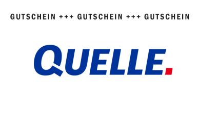 QUELLE Gutscheine November 2017
