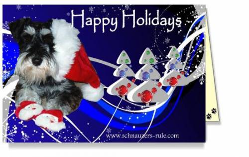 Schnauzer Dog Holiday ECards