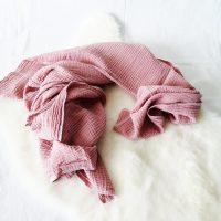 Musselintuch rosé